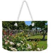 Rose Garden And Trellis Weekender Tote Bag