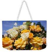 Rose Garden Art Prints Yellow Orange Rose Flowers Weekender Tote Bag