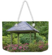 Rose Garden Gazebo Weekender Tote Bag