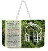Rose Garden Prayer Weekender Tote Bag