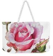 Watercolor Of Pink Rose Grace Weekender Tote Bag
