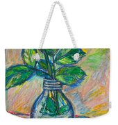 Rose In A Bottle Weekender Tote Bag