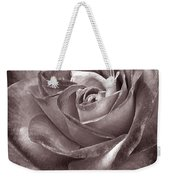 Rose In Black And White Weekender Tote Bag