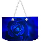 Rose In Blue Weekender Tote Bag