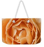 Rose In Rain Weekender Tote Bag