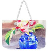 Rose In The Blue Vase  Weekender Tote Bag