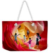 Rose Labyrinth Weekender Tote Bag