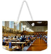 Rose Main Reading Room New York Public Library Weekender Tote Bag