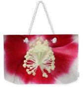 Rose Mallow - Honeymoon White With Eye 03 Weekender Tote Bag