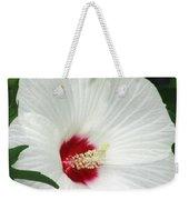 Rose Mallow - Honeymoon White With Eye 05 Weekender Tote Bag