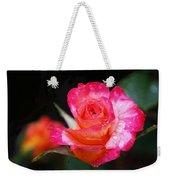 Rose Mardi Gras Weekender Tote Bag by Rona Black