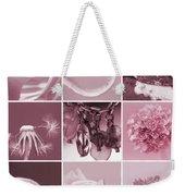 Rose Mosaic Weekender Tote Bag