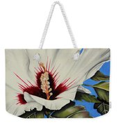 Rose Of Sharon Weekender Tote Bag by Karen Beasley