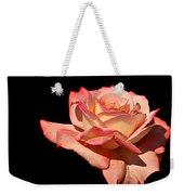 Rose On Black Background Weekender Tote Bag