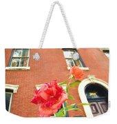 Rose On Brownstone Weekender Tote Bag
