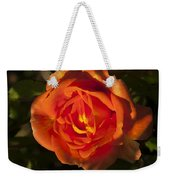Rose Orange Weekender Tote Bag