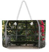 Rose Pavilion At Chateau Villandry Weekender Tote Bag