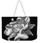 Rose Petals In Black And White Weekender Tote Bag