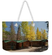 Rose Twin 1 And Twin 2 Cabins At The Holzwarth Historic Site Weekender Tote Bag