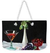 Rose Wine And Fruit Weekender Tote Bag