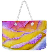 Rose With Dew Drops In Candy Colors Weekender Tote Bag
