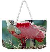 Roseate Spoonbill Adult In Breeding Weekender Tote Bag