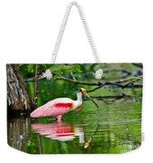 Roseate Spoonbill Wading Weekender Tote Bag