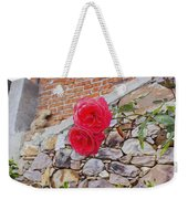 Roses Against The Wall Weekender Tote Bag