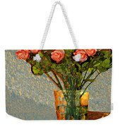 Roses And A Chinese Bowl Weekender Tote Bag