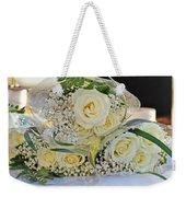 Roses And Baby Breath Weekender Tote Bag
