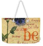 Roses And Butterflies 1 Weekender Tote Bag
