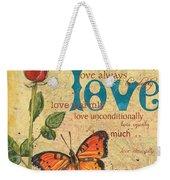 Roses And Butterflies 2 Weekender Tote Bag by Debbie DeWitt