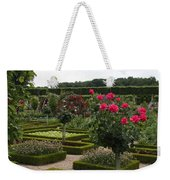 Roses And Cabbage -  Chateau Villandry Weekender Tote Bag
