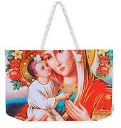 Roses And Holy Family Weekender Tote Bag