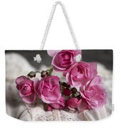 Roses And Lace Weekender Tote Bag