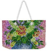 Roses And White Lilacs Lacy Bouquet Digital Painting Weekender Tote Bag