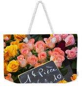 Roses At Flower Market Weekender Tote Bag
