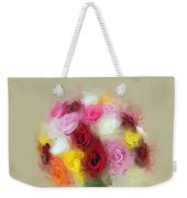 Roses In A Vase 1 Weekender Tote Bag