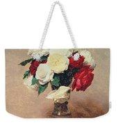 Roses In A Vase With Stem Weekender Tote Bag
