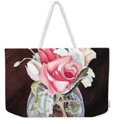 Roses In The Glass Vase Weekender Tote Bag