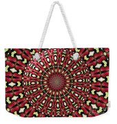 Roses Kaleidoscope Under Glass 21 Weekender Tote Bag