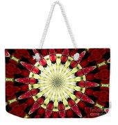 Roses Kaleidoscope Under Glass 23 Weekender Tote Bag