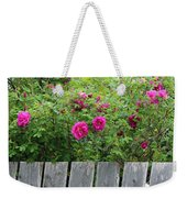 Roses On A Fence Weekender Tote Bag