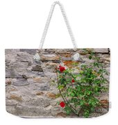 Roses On A Stone Wall Weekender Tote Bag