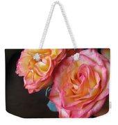 Roses On Dark Background Weekender Tote Bag