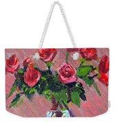 Roses On Pink Weekender Tote Bag