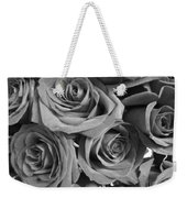 Roses On Your Wall Black And White  Weekender Tote Bag