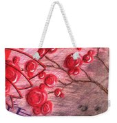Rosettes In Abstract Weekender Tote Bag
