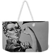 Rosie In Black And White1 Weekender Tote Bag