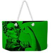 Rosie In Green Weekender Tote Bag